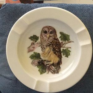 Barred Owl ashtray